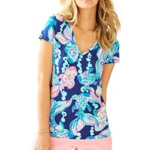 Lilly Pulitzer 'Going Coastal' Michele V-neck Tee